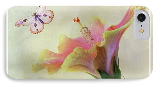 Butterfly Hibiscus Art II IPhone Case