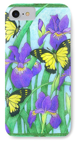 Butterfly Idyll-irises IPhone Case