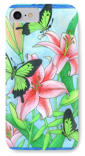 Butterfly Idyll- Lilies IPhone Case