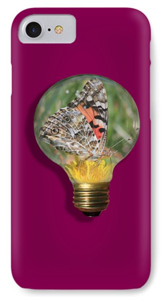 Butterfly In A Bulb II Phone Case by Shane Bechler