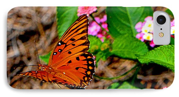 IPhone Case featuring the photograph Butterfly In Flight 002 by George Bostian
