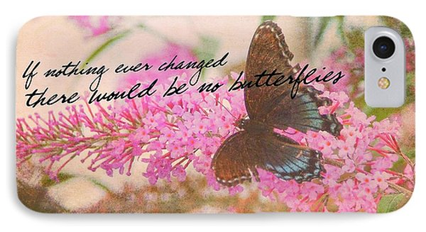 Butterfly Kisses Quote IPhone Case