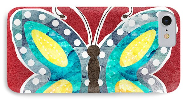 Butterfly Liberty IPhone Case by Linda Woods