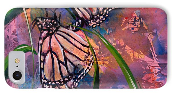 IPhone Case featuring the painting Butterfly Love by AnnaJo Vahle