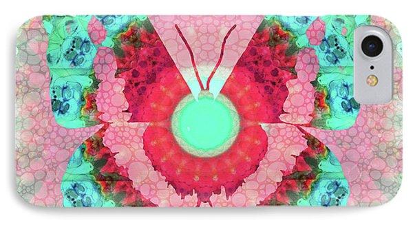 Butterfly Mandala 3 Art By Sharon Cummings IPhone Case by Sharon Cummings