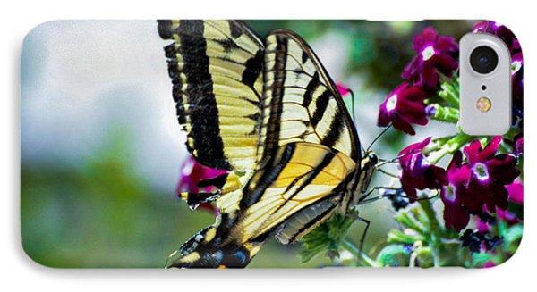 Butterfly On Purple Flowers IPhone Case