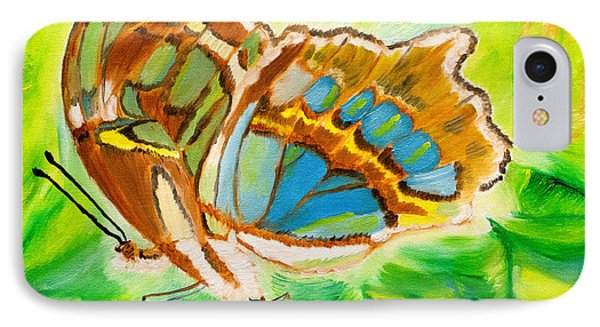 Malachite Butterfly Delight IPhone Case