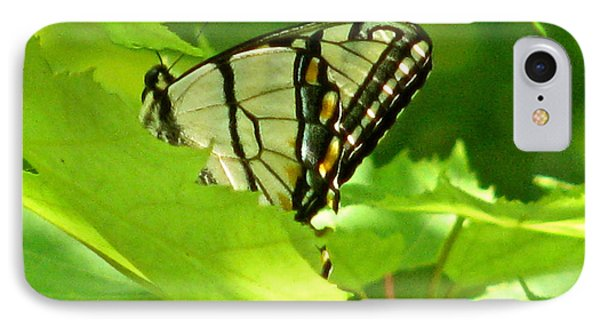 Butterfly Rest In The Leaves Phone Case by Debra     Vatalaro