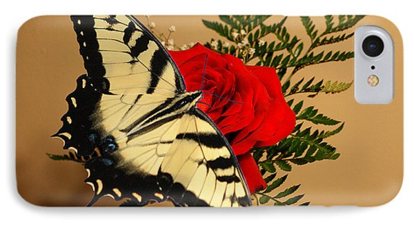 Butterfly Rose IPhone Case by Rick Friedle
