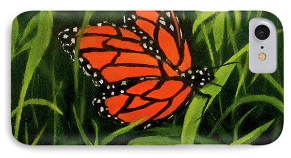 IPhone Case featuring the painting Butterfly by Roseann Gilmore