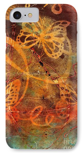 Butterfly Sun Dance IPhone Case by Angela L Walker