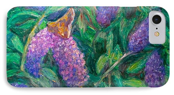 IPhone Case featuring the painting Butterfly View by Kendall Kessler