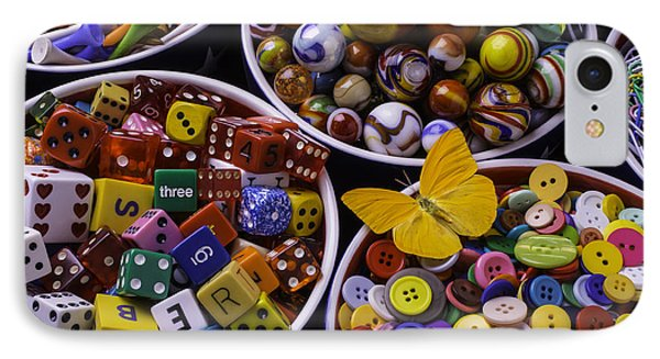 Butterfly With Bowls IPhone Case by Garry Gay