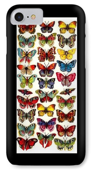 IPhone Case featuring the painting Butterflys by Pg Reproductions