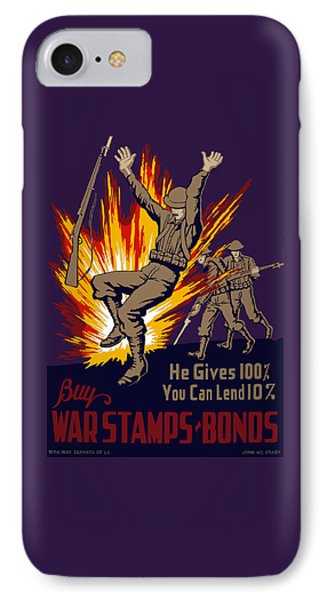 Buy War Stamps And Bonds IPhone Case by War Is Hell Store