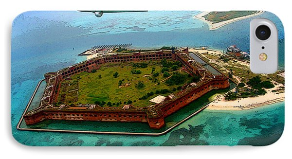 Buzzing The Dry Tortugas IPhone Case