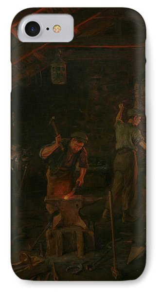 By Hammer And Hand All Arts Doth Stand IPhone Case by William Banks Fortescue