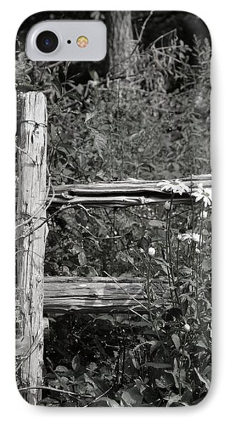 By The Fence IPhone Case by Janet Rockburn