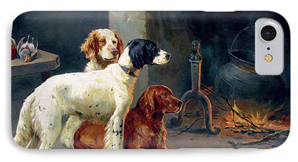 By The Fire IPhone Case by Alfred Duke