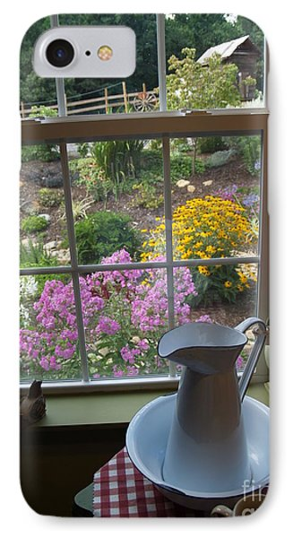 By The Garden Window In North Carolina IPhone Case