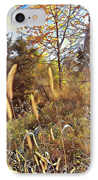 By The Railroad Tracks IPhone Case by Diane Miller