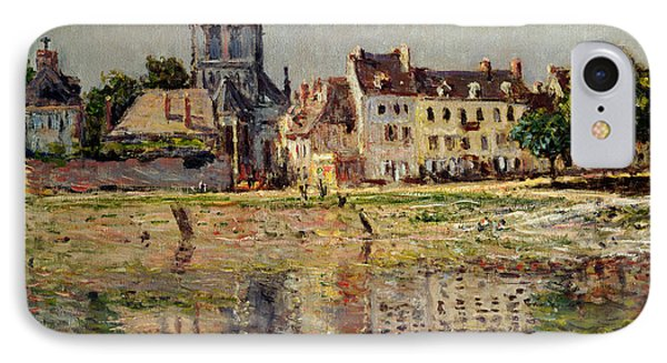 By The River At Vernon Phone Case by Claude Monet