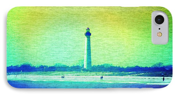 By The Sea - Cape May Lighthouse Phone Case by Bill Cannon