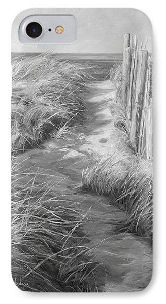 By The Sea - Black And White IPhone Case