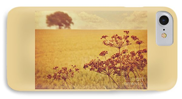 IPhone Case featuring the photograph By The Side Of The Wheat Field by Lyn Randle