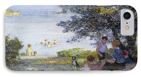 By The Water IPhone Case by Edward Henry Potthast