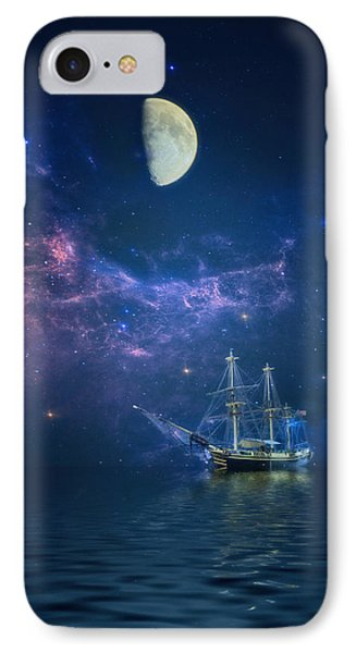 By Way Of The Moon And Stars IPhone Case by John Rivera