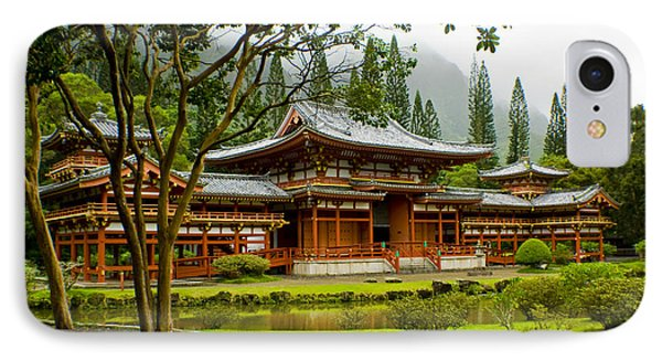 Byodo-in Temple IPhone Case by Rob Tullis