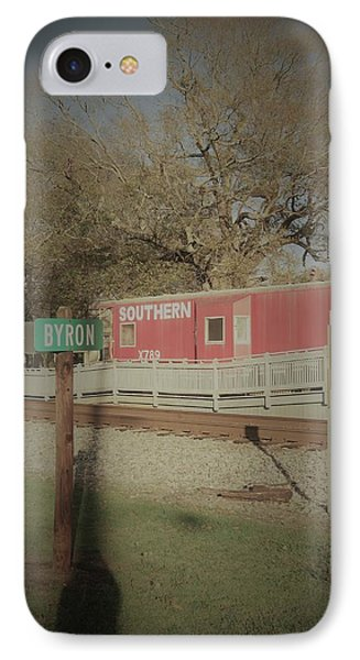 IPhone Case featuring the photograph Byron Town By The Tracks by Aaron Martens