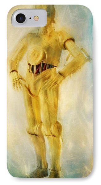 C-3po IPhone Case by Dan Sproul