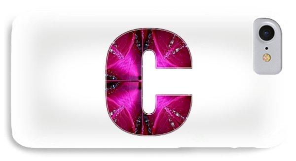 C Cc Ccc  Alpha Art On Shirts Alphabets Initials   Shirts Jersey T-shirts V-neck By Navinjoshi IPhone Case