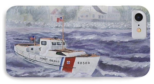 C G 40300 At Coast Guard Station Plum Island IPhone Case by Jerry McElroy