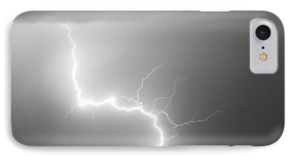C2g Lightning Strike In Black And White IPhone Case by James BO  Insogna