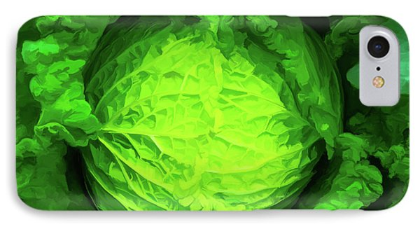 Cabbage 02 IPhone Case by Wally Hampton