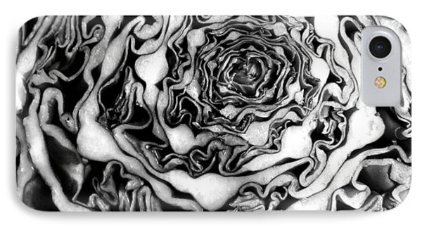 Cabbage Fractal Photograph IPhone Case by Kristen Fox
