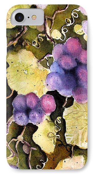 IPhone Case featuring the painting Cabernet Harvest 2 by Marti Green