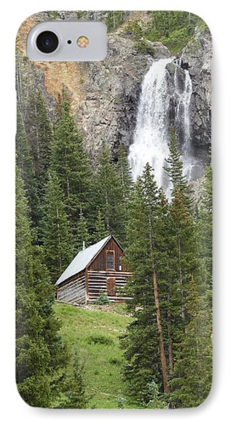 Cabin And A Waterfall IPhone Case