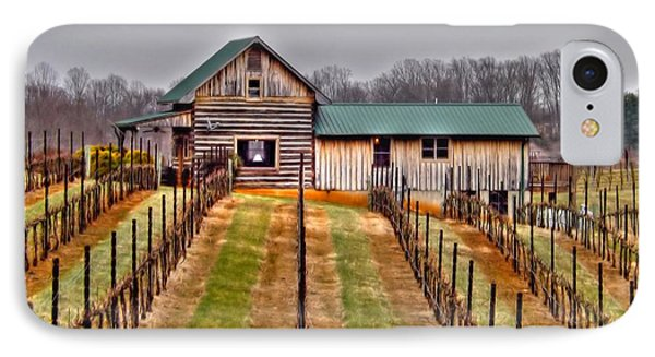 Cabin At Autumn Creek Vineyard IPhone Case