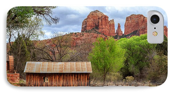 Cabin At Cathedral Rock IPhone Case by James Eddy