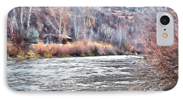 Cabin By The River In Steamboat,co IPhone Case by James Steele