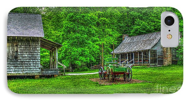 IPhone Case featuring the photograph Cabin Fever Great Smoky Mountains Art by Reid Callaway