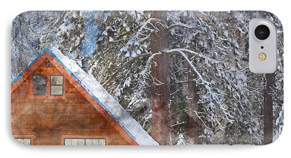 Cabin In The Snow IPhone Case by Brandon Bourdages