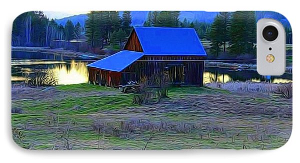 Cabin In The Valley IPhone Case
