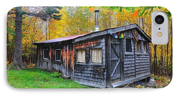 Cabin In The Woods  IPhone Case by Catherine Reusch Daley