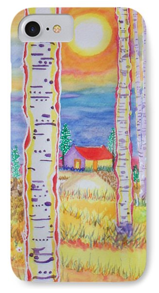 IPhone Case featuring the painting Cabin In The Woods by Connie Valasco