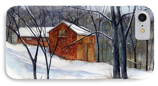 Cabin In The Woods IPhone Case by Debbie Lewis